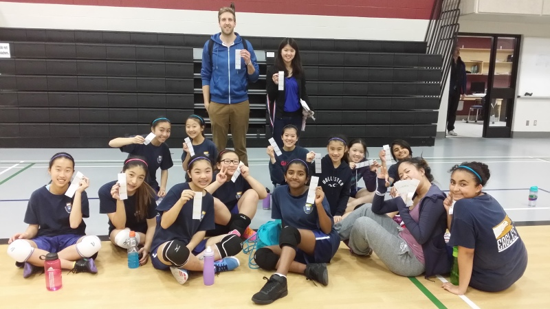 Middle School Girls Volleyball 5