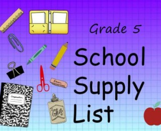 Grade 5 School Supply List