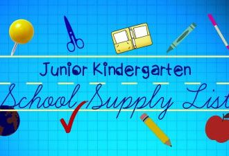 JK School Supply List