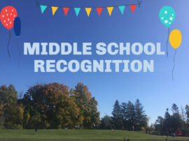Middle School Recognition