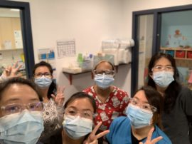 ELC staff with mask