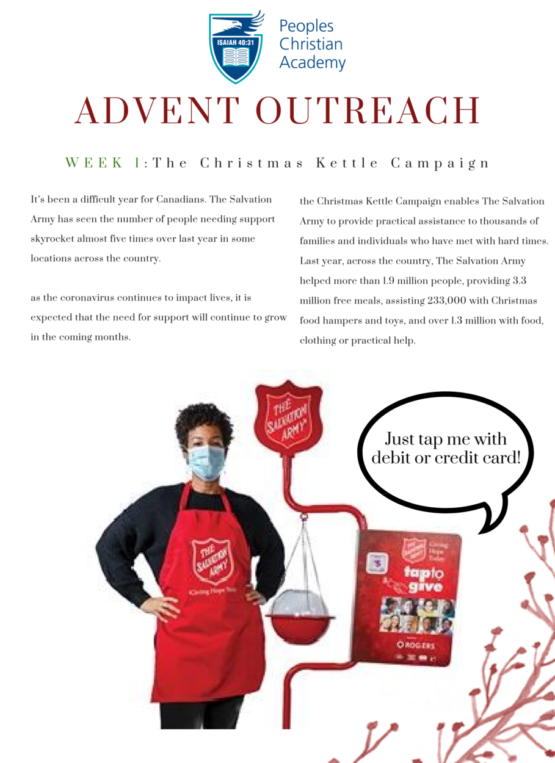 Advent Outreach poster